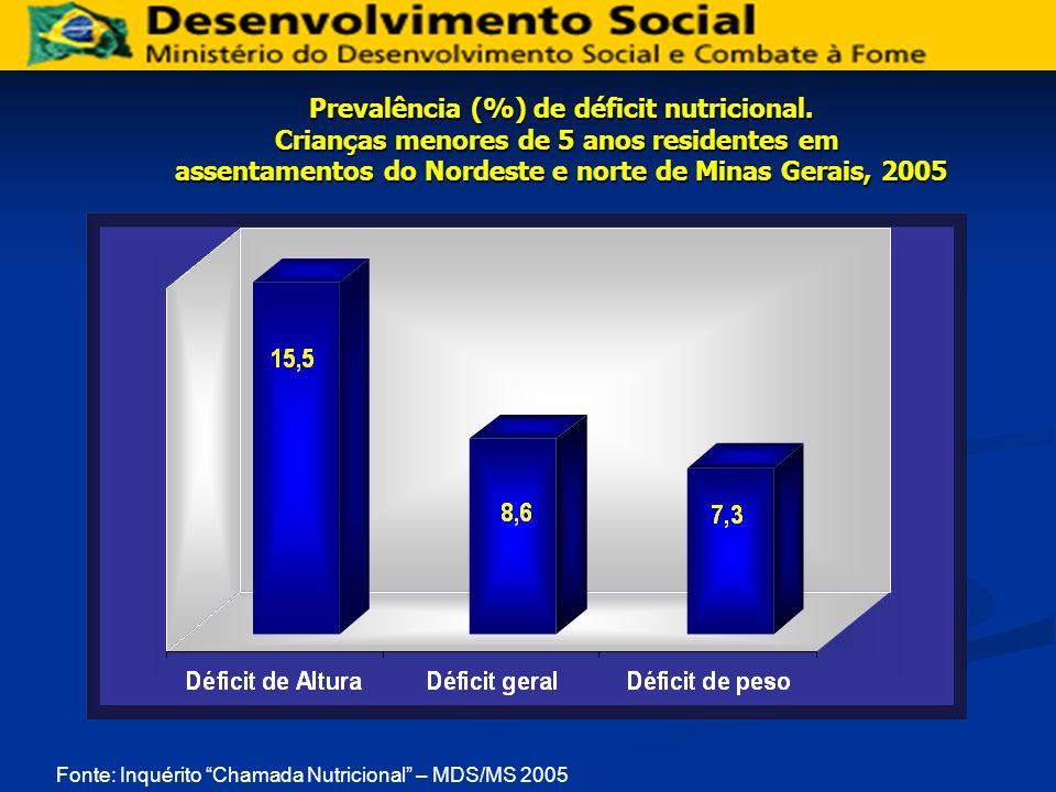 assentamentos do Nordeste e norte de Minas Gerais, 2005