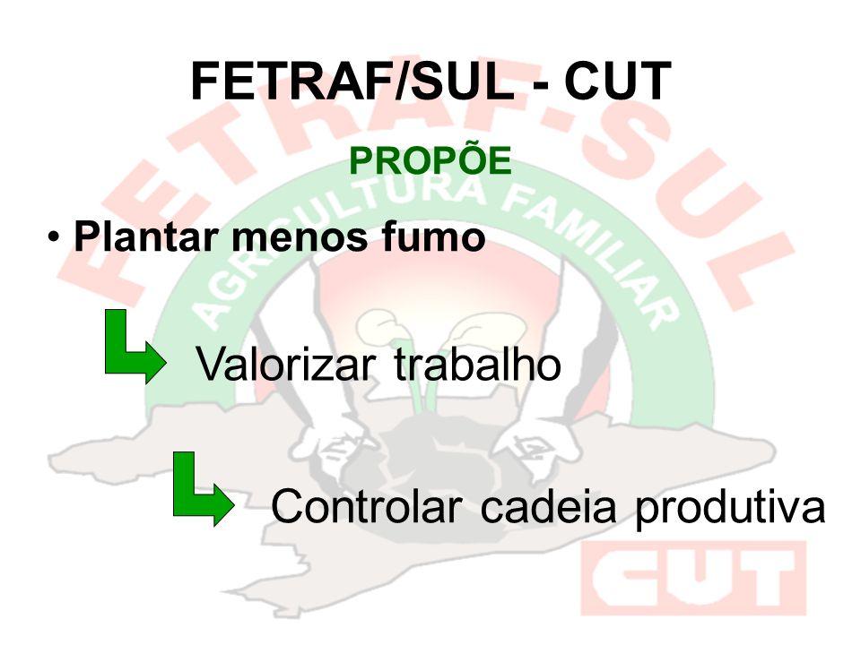 FETRAF/SUL - CUT Valorizar trabalho Controlar cadeia produtiva