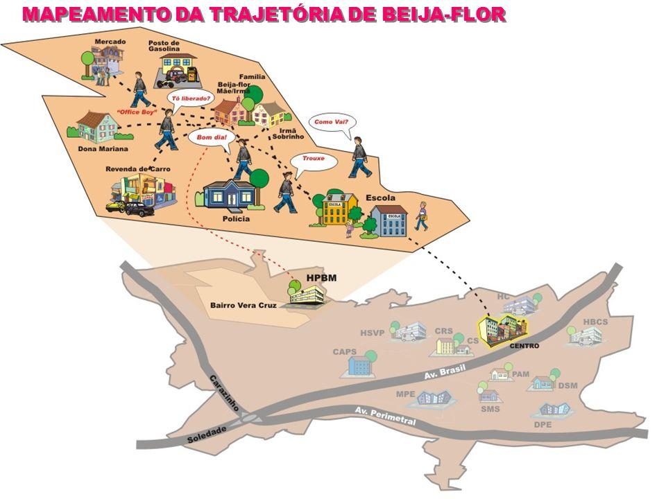 MAPEAMENTO DA TRAJETÓRIA DE BEIJA-FLOR