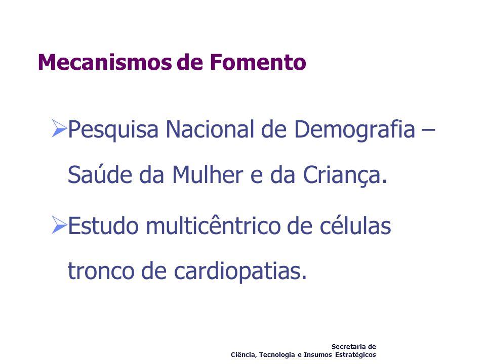 Pesquisa Nacional de Demografia – Saúde da Mulher e da Criança.
