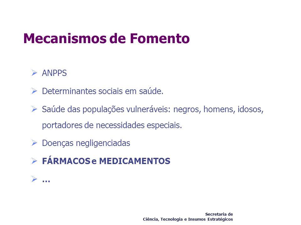 Mecanismos de Fomento ANPPS Determinantes sociais em saúde.