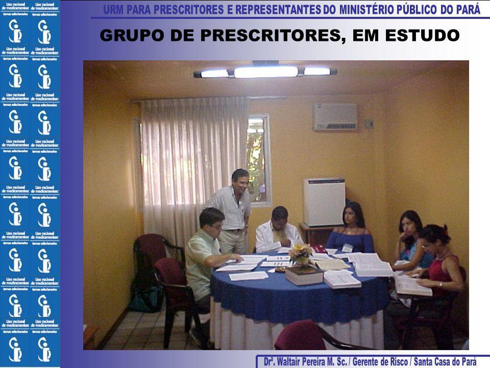 GRUPO DE PRESCRITORES, EM ESTUDO