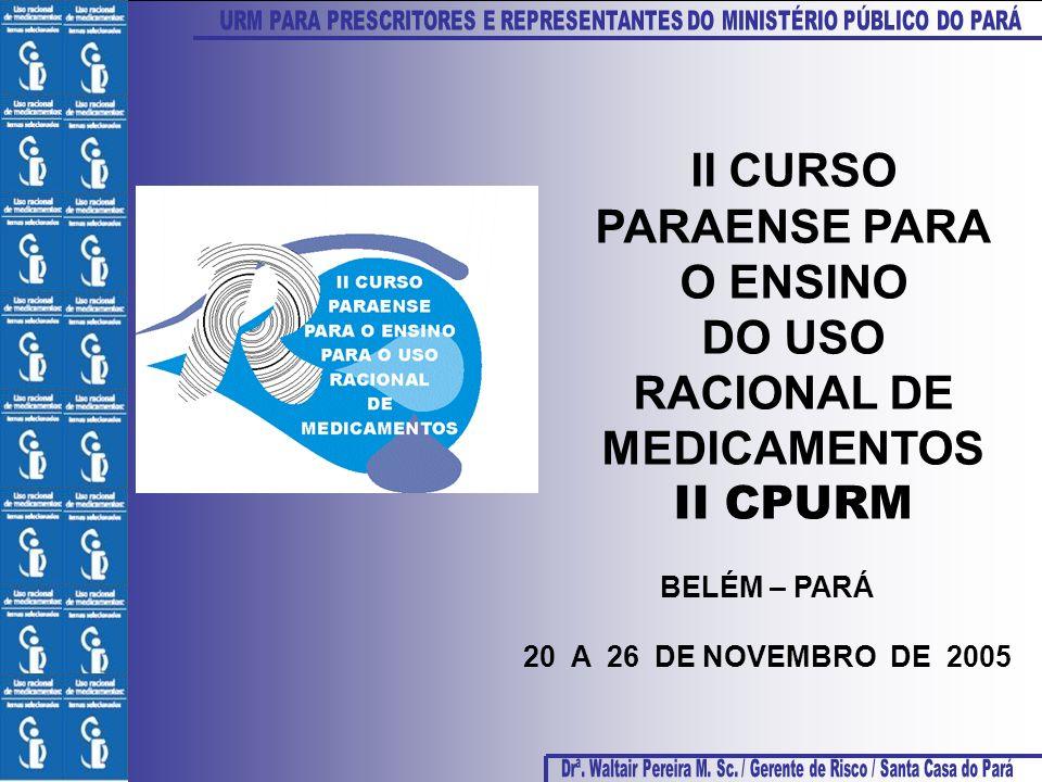II CURSO PARAENSE PARA O ENSINO DO USO RACIONAL DE MEDICAMENTOS