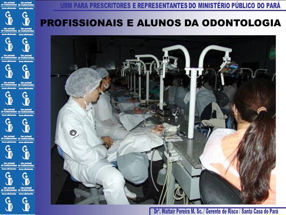 PROFISSIONAIS E ALUNOS DA ODONTOLOGIA