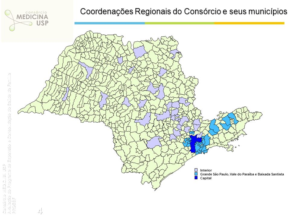 Coordenações Regionais do Consórcio e seus municípios