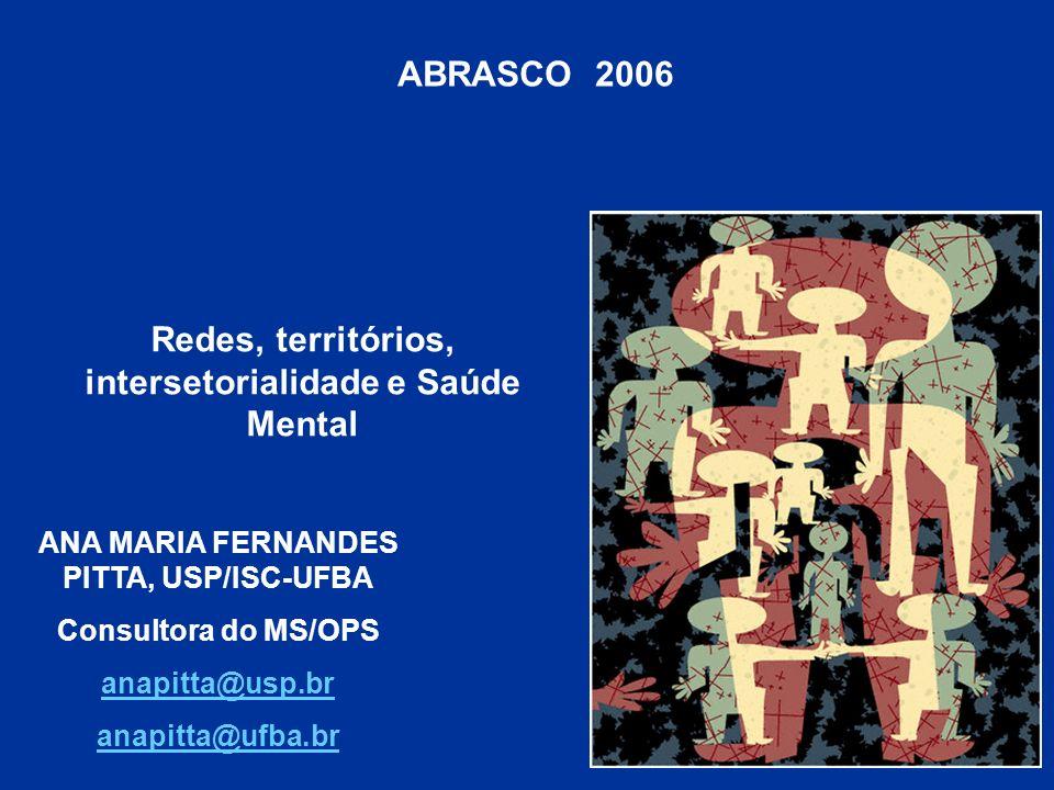 ABRASCO 2006 Redes, territórios, intersetorialidade e Saúde Mental