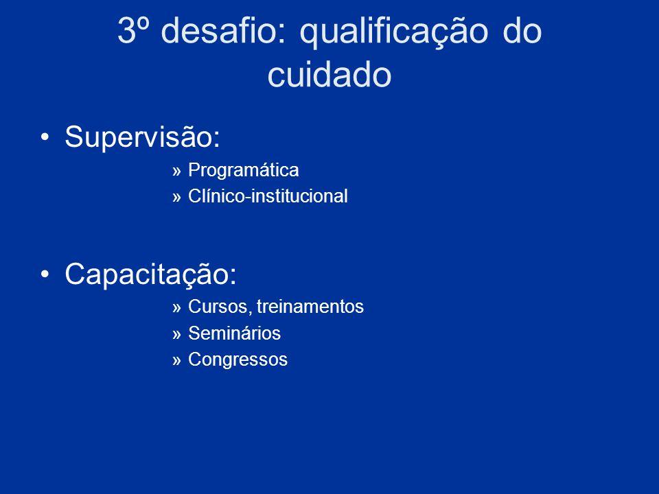 3º desafio: qualificação do cuidado