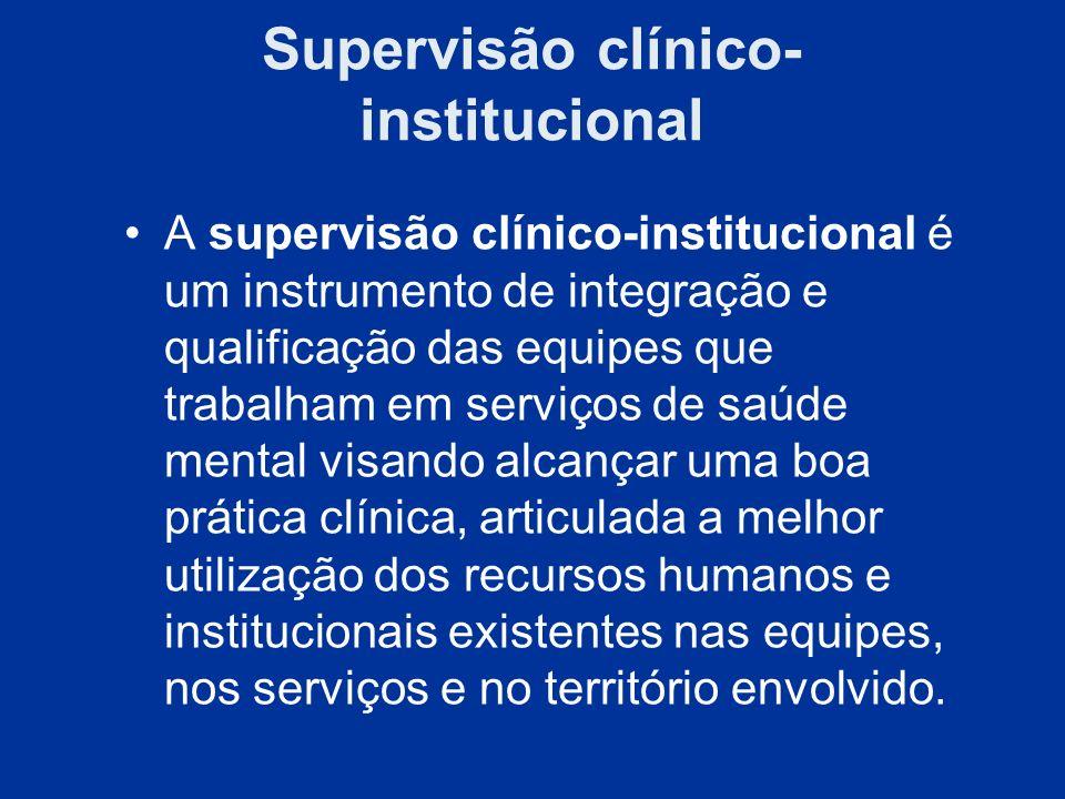 Supervisão clínico-institucional