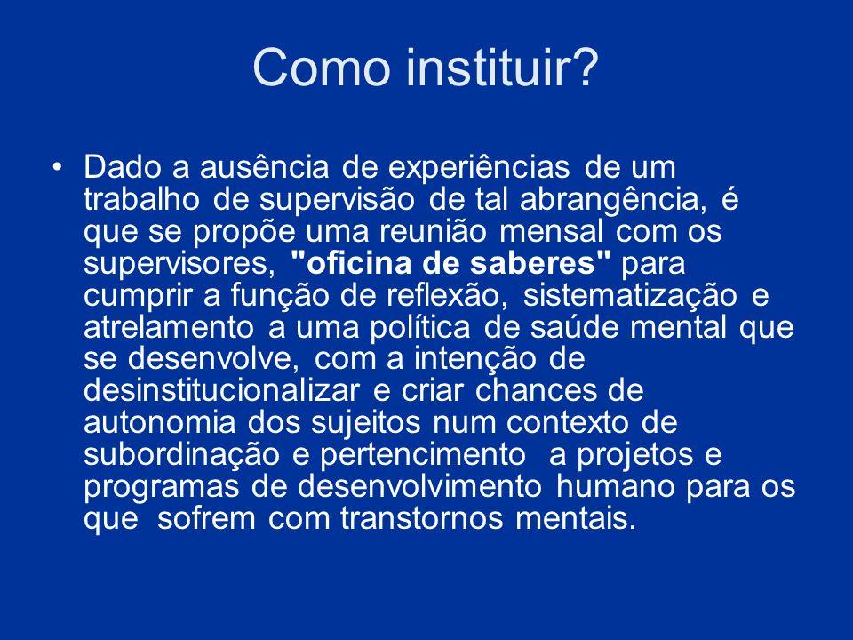 Como instituir