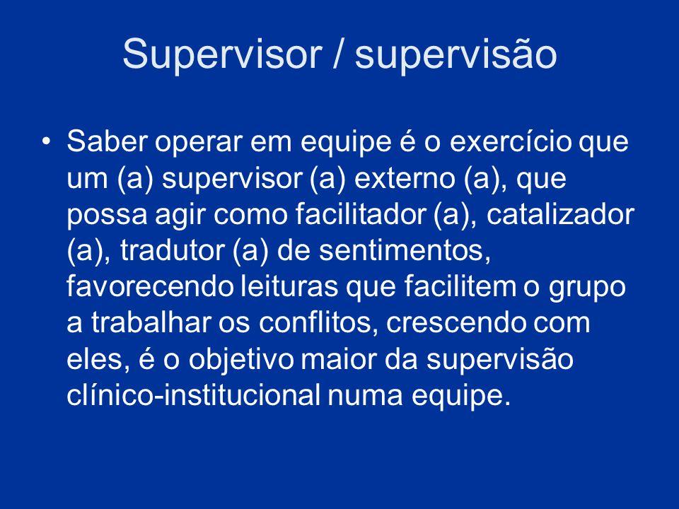 Supervisor / supervisão