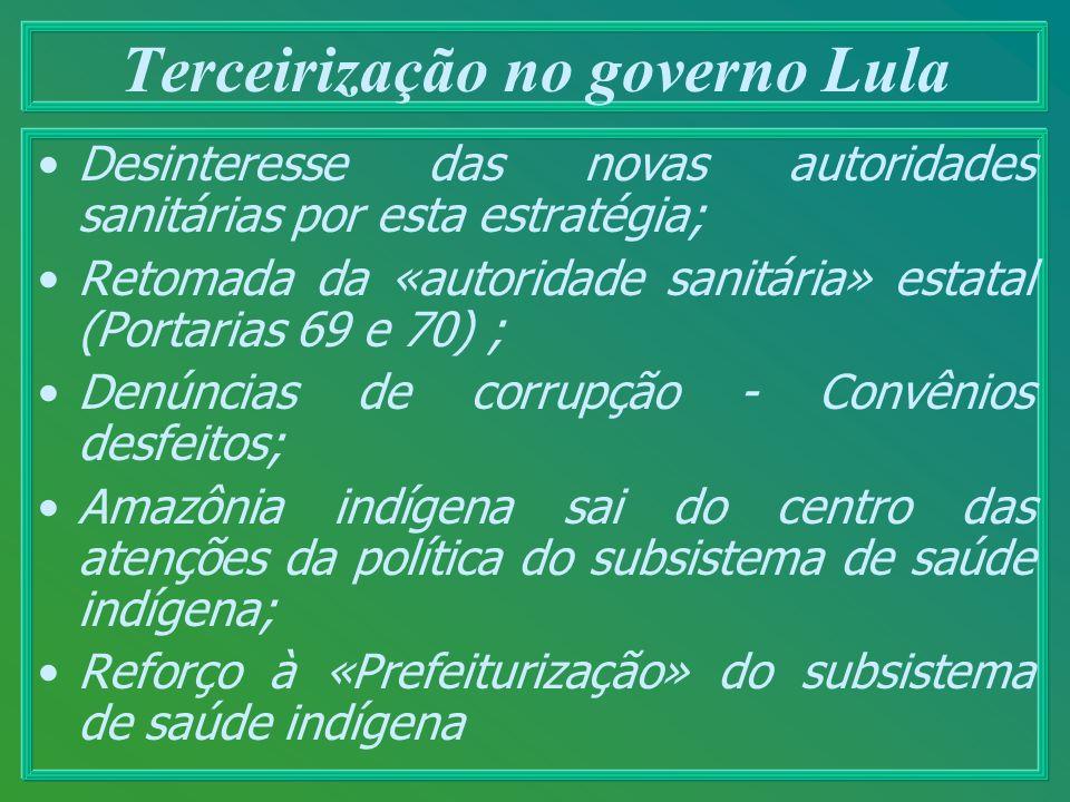 Terceirização no governo Lula