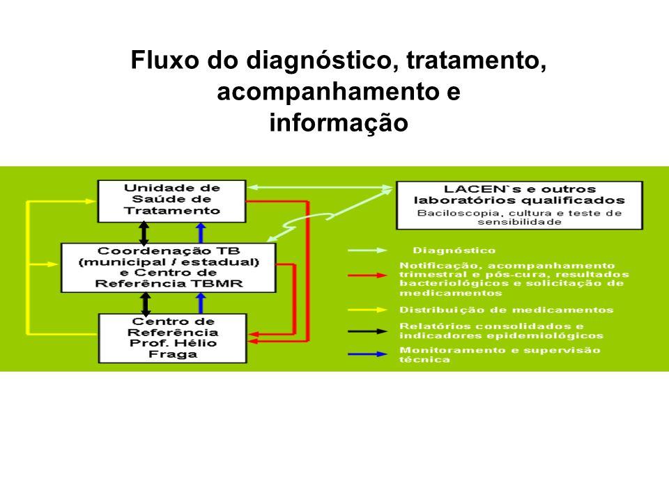 Fluxo do diagnóstico, tratamento, acompanhamento e