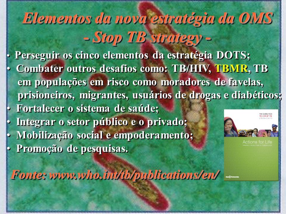 Elementos da nova estratégia da OMS