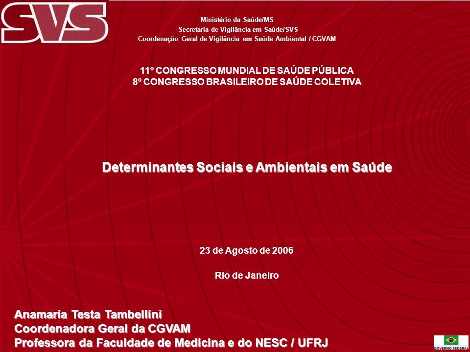 Determinantes Sociais e Ambientais em Saúde