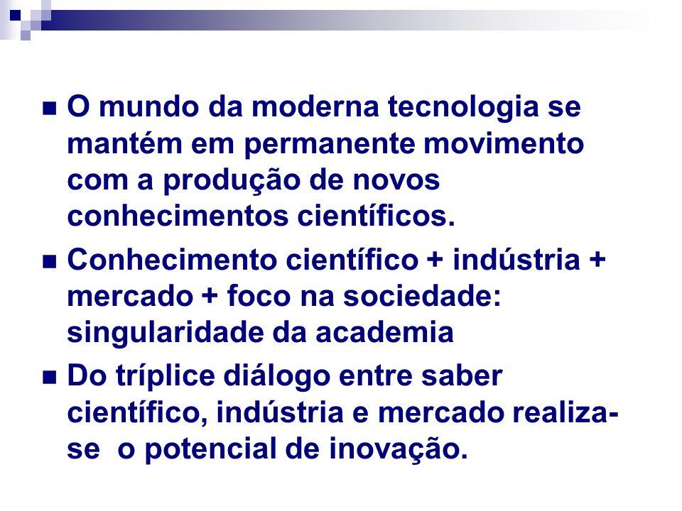 O mundo da moderna tecnologia se mantém em permanente movimento com a produção de novos conhecimentos científicos.