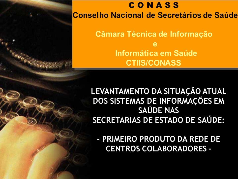Conselho Nacional de Secretários de Saúde Câmara Técnica de Informação
