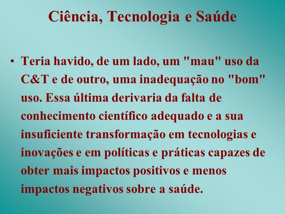 Ciência, Tecnologia e Saúde
