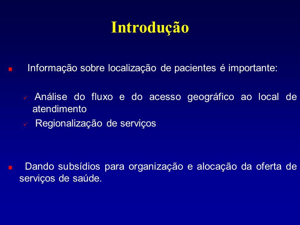 Introdução Informação sobre localização de pacientes é importante: