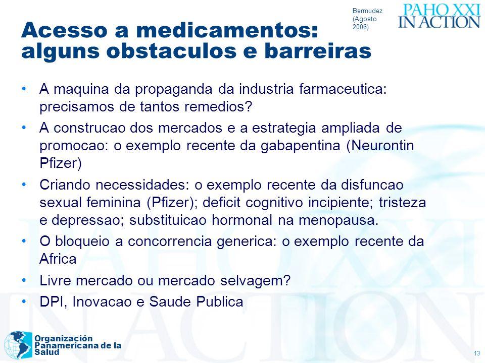 Acesso a medicamentos: alguns obstaculos e barreiras