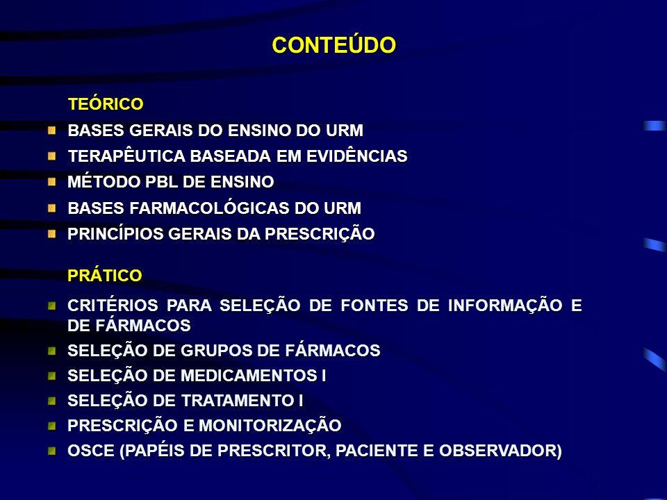 CONTEÚDO TEÓRICO BASES GERAIS DO ENSINO DO URM