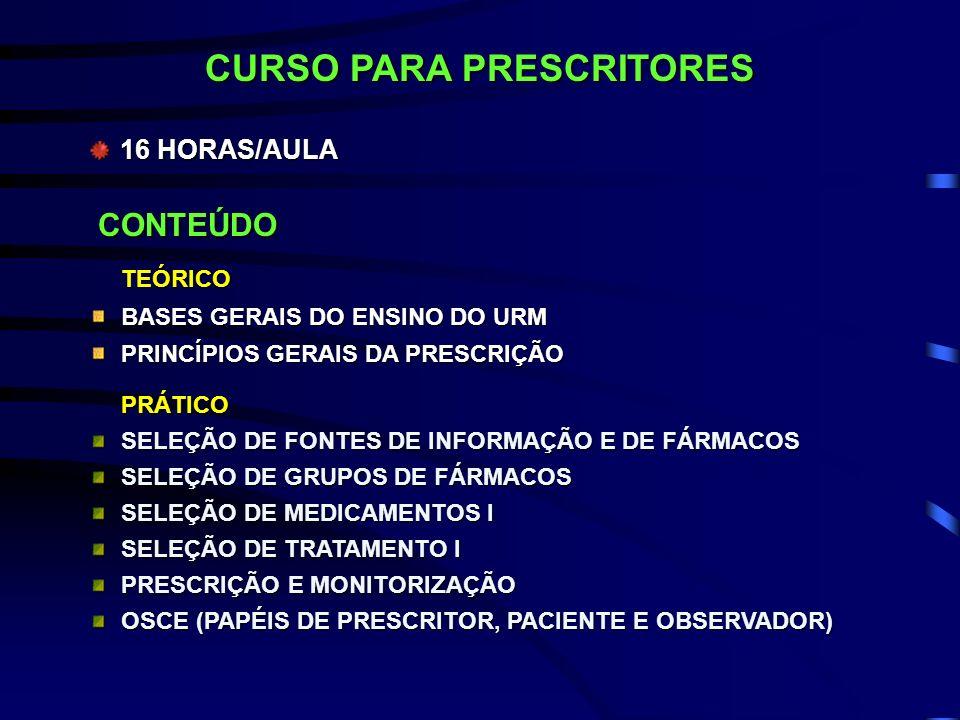 CURSO PARA PRESCRITORES