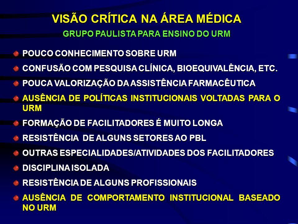 VISÃO CRÍTICA NA ÁREA MÉDICA GRUPO PAULISTA PARA ENSINO DO URM
