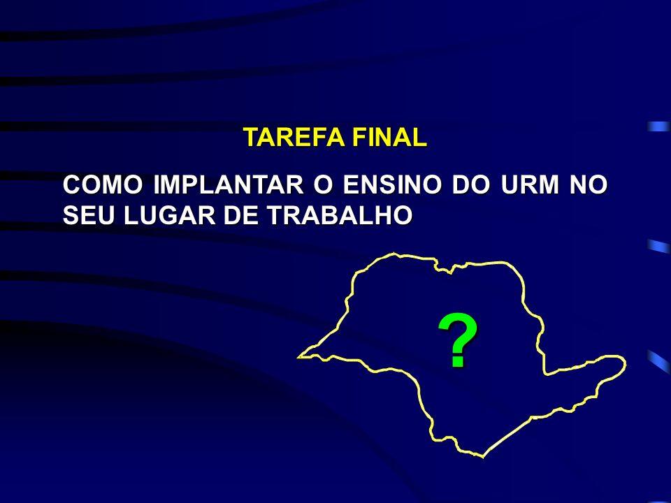 TAREFA FINAL COMO IMPLANTAR O ENSINO DO URM NO SEU LUGAR DE TRABALHO