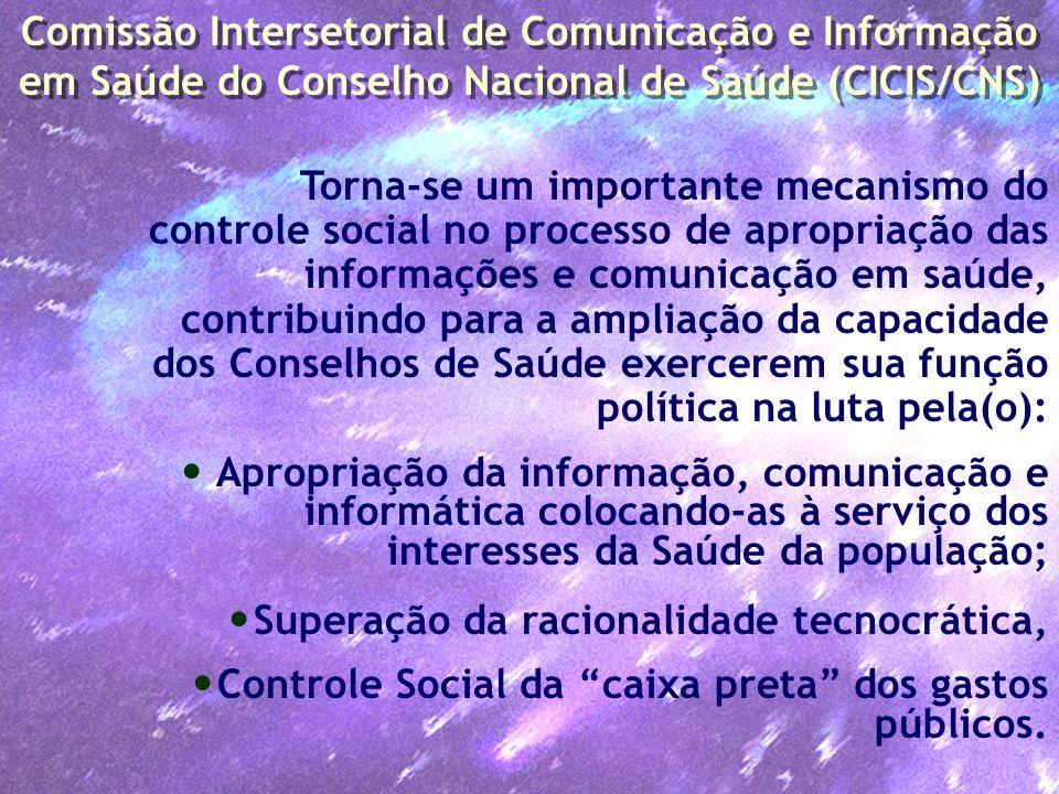 Comissão Intersetorial de Comunicação e Informação em Saúde do Conselho Nacional de Saúde (CICIS/CNS)