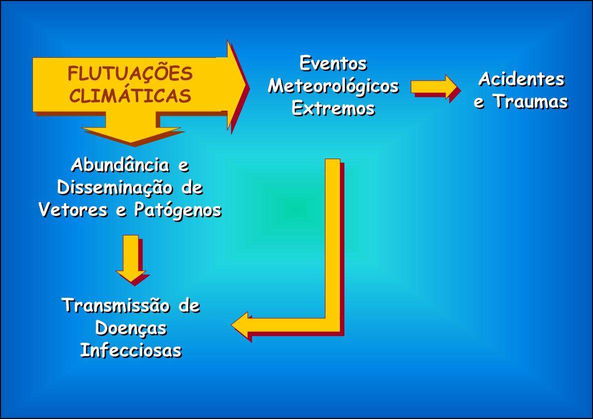 FLUTUAÇÕES CLIMÁTICAS Eventos Meteorológicos Extremos
