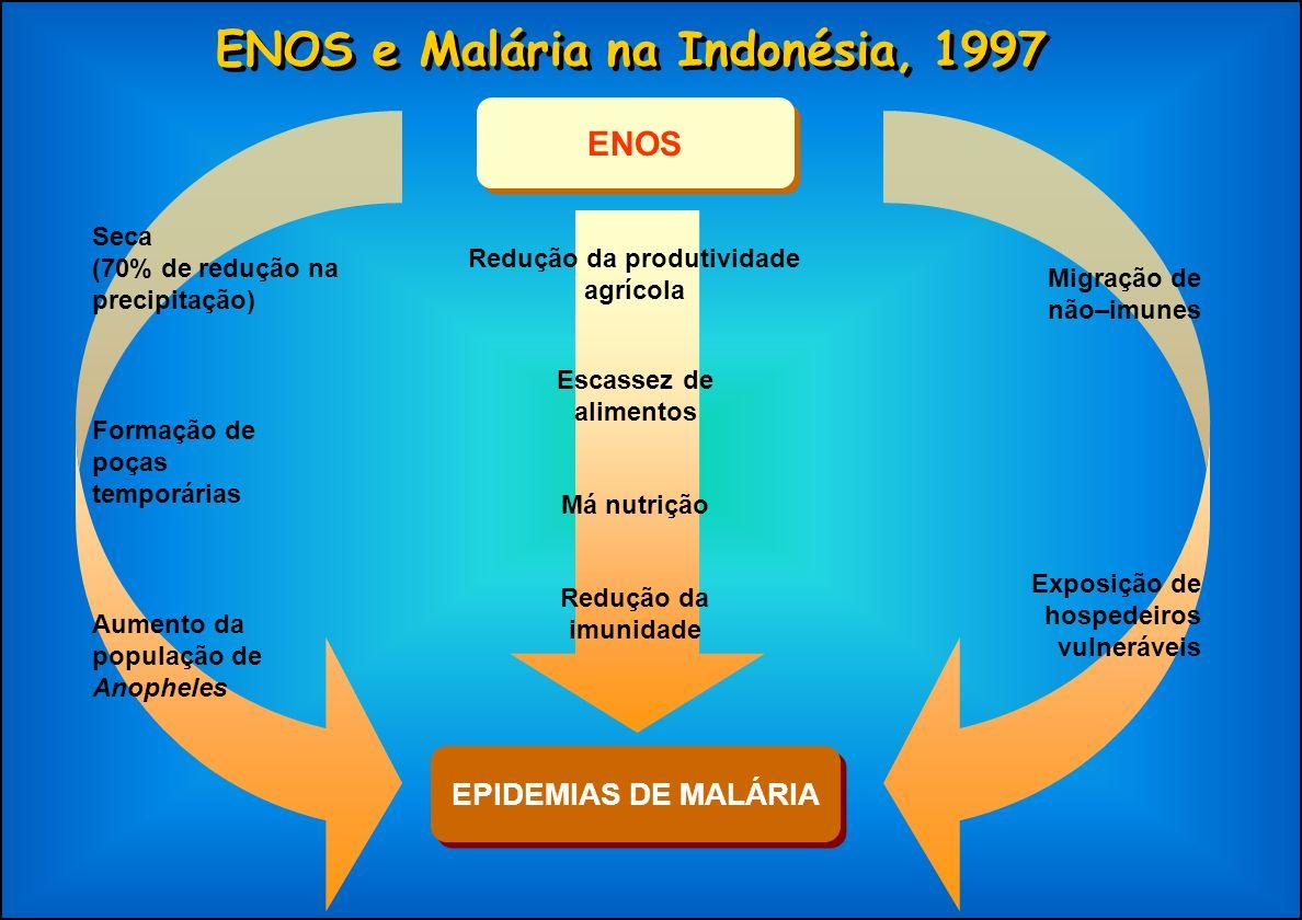 ENOS e Malária na Indonésia, 1997