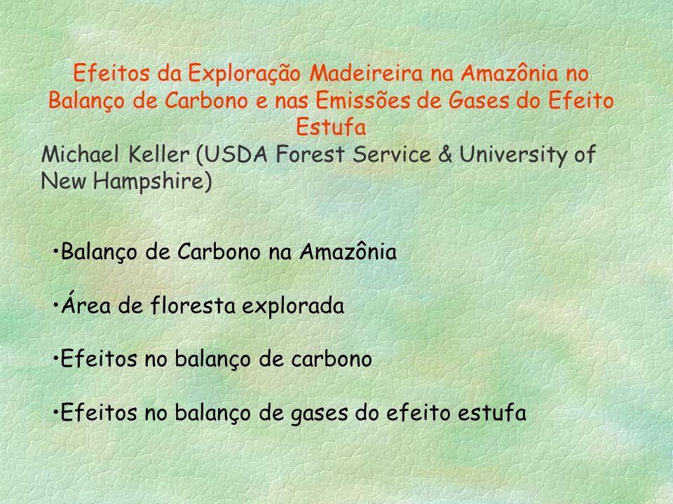 Efeitos da Exploração Madeireira na Amazônia no Balanço de Carbono e nas Emissões de Gases do Efeito Estufa