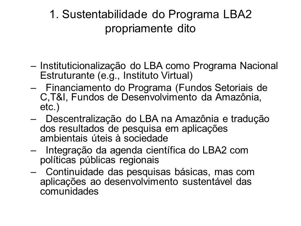 1. Sustentabilidade do Programa LBA2 propriamente dito