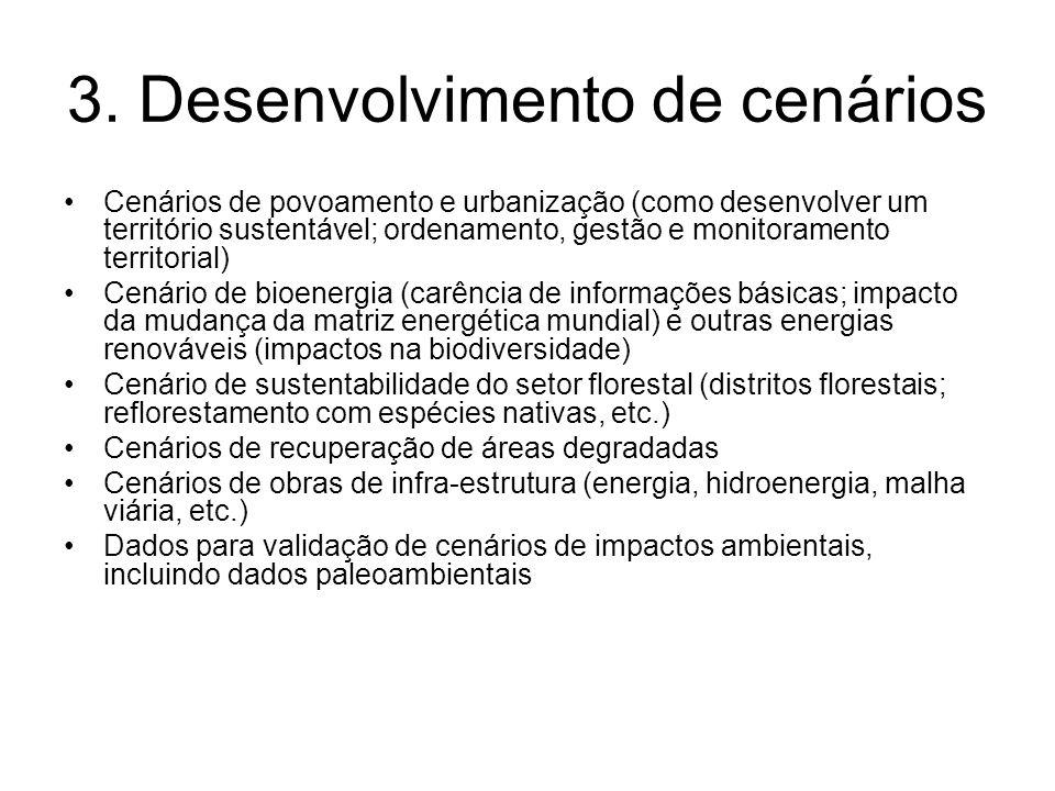 3. Desenvolvimento de cenários