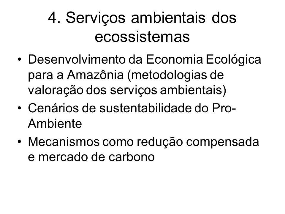 4. Serviços ambientais dos ecossistemas