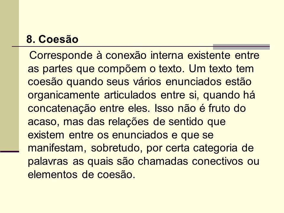 8. Coesão