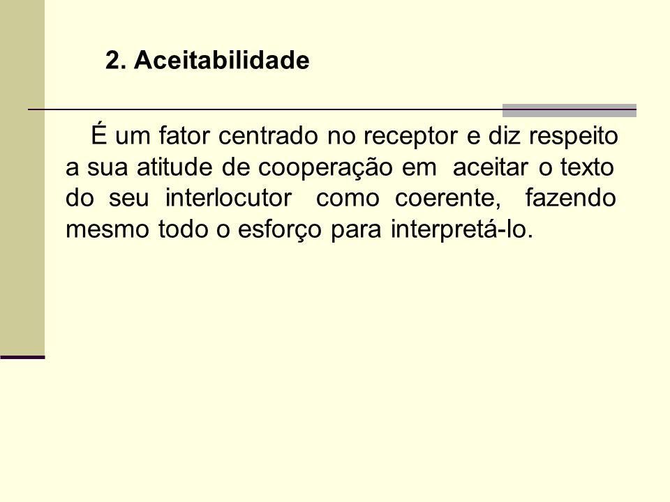 2. Aceitabilidade