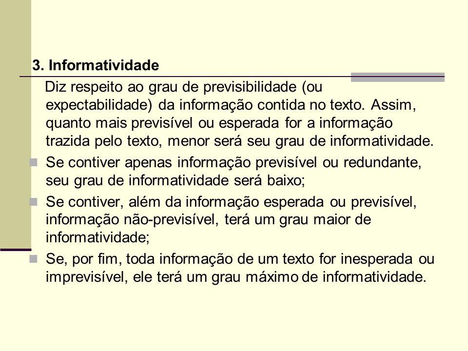 3. Informatividade