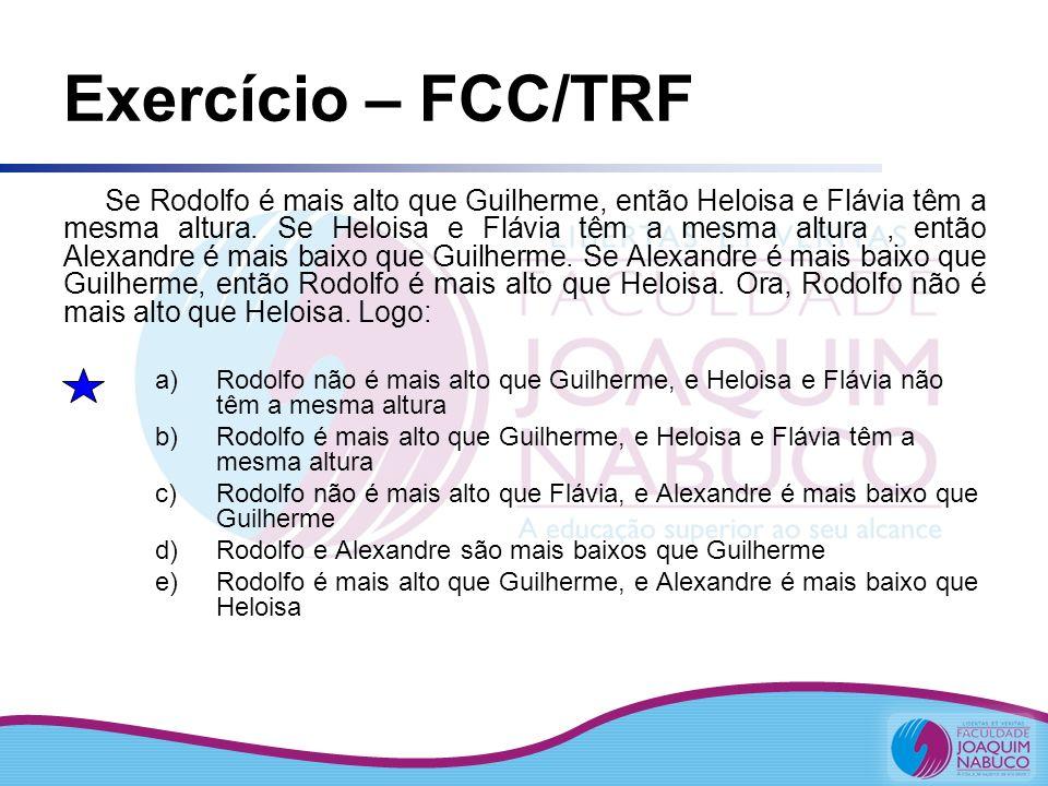 Exercício – FCC/TRF
