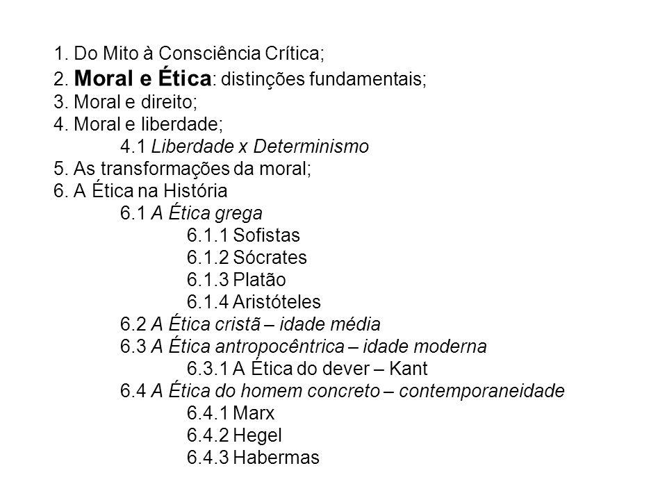 1. Do Mito à Consciência Crítica; 2