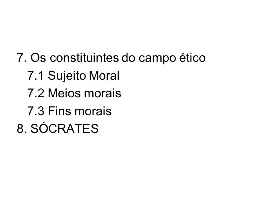 7. Os constituintes do campo ético