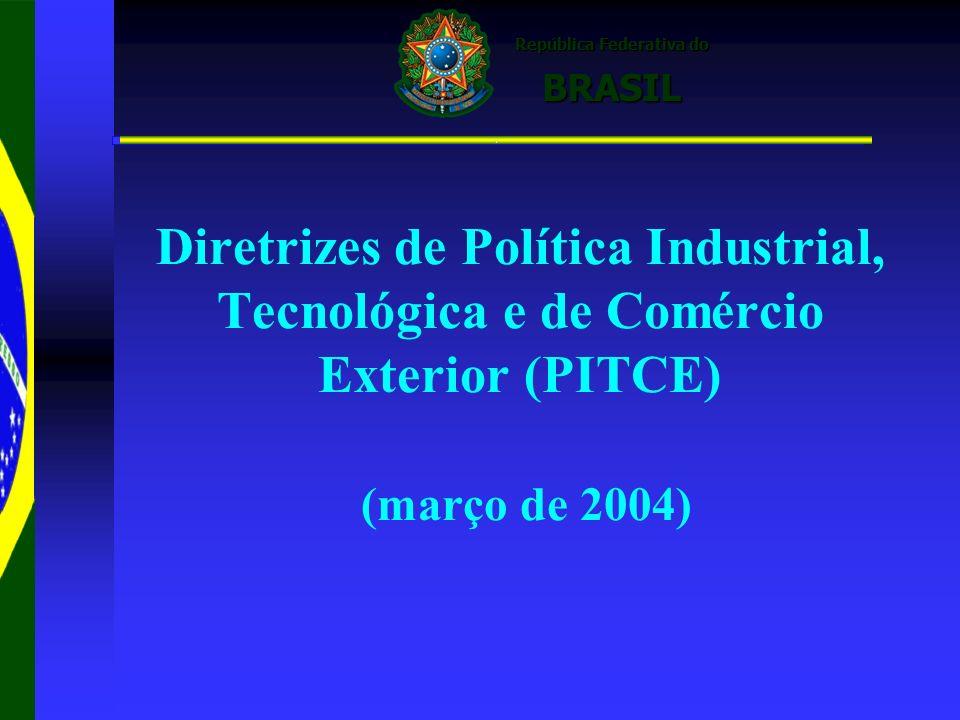 Diretrizes de Política Industrial, Tecnológica e de Comércio Exterior (PITCE) (março de 2004)