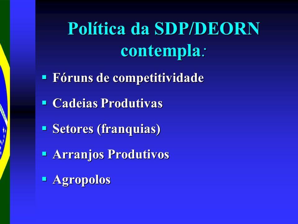 Política da SDP/DEORN contempla: