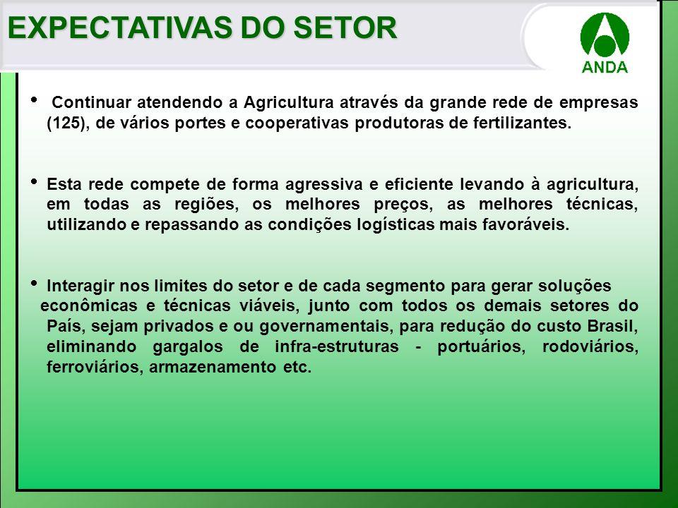 EXPECTATIVAS DO SETOR