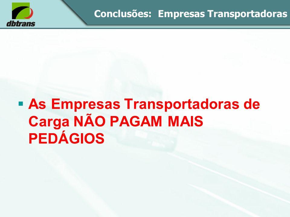 Conclusões: Empresas Transportadoras