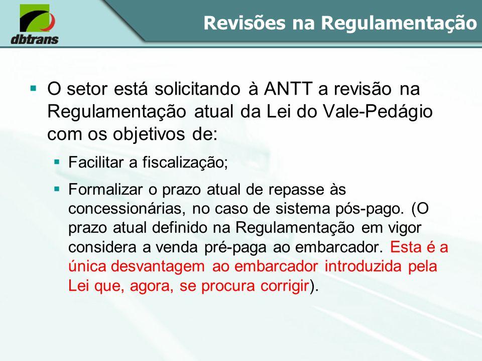 Revisões na Regulamentação