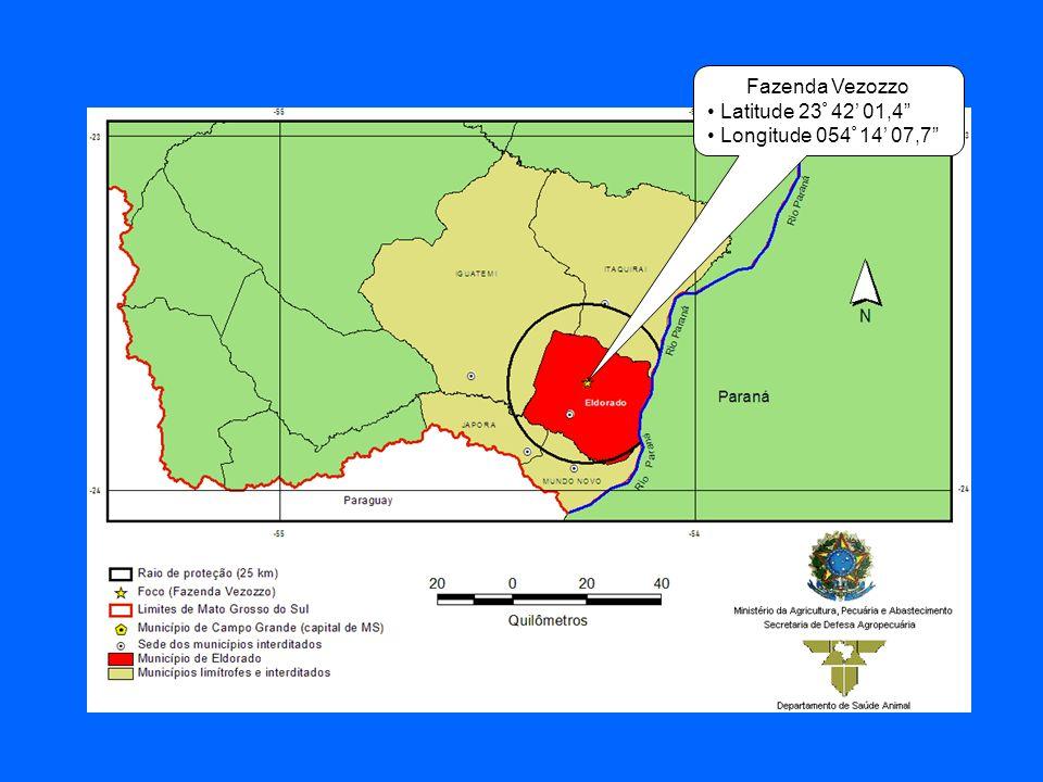 Fazenda Vezozzo Latitude 23º 42' 01,4 Longitude 054º 14' 07,7