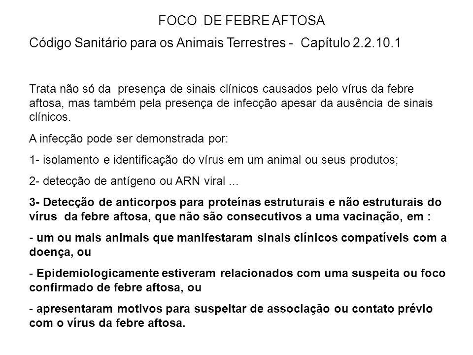 Código Sanitário para os Animais Terrestres - Capítulo 2.2.10.1