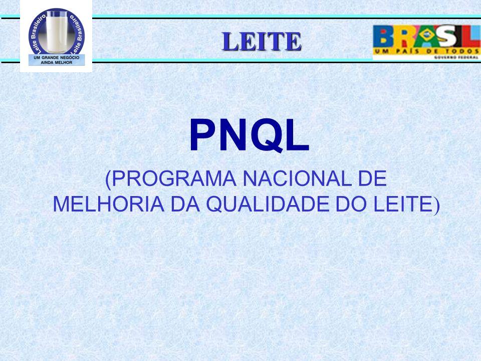 PNQL (PROGRAMA NACIONAL DE MELHORIA DA QUALIDADE DO LEITE)
