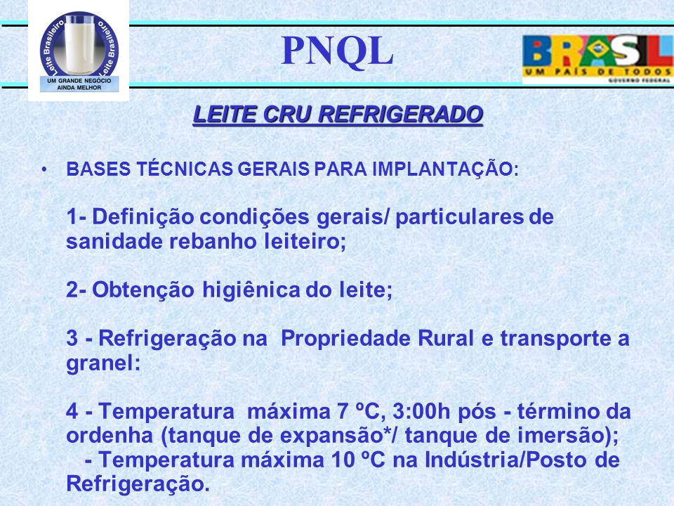 PNQL LEITE CRU REFRIGERADO
