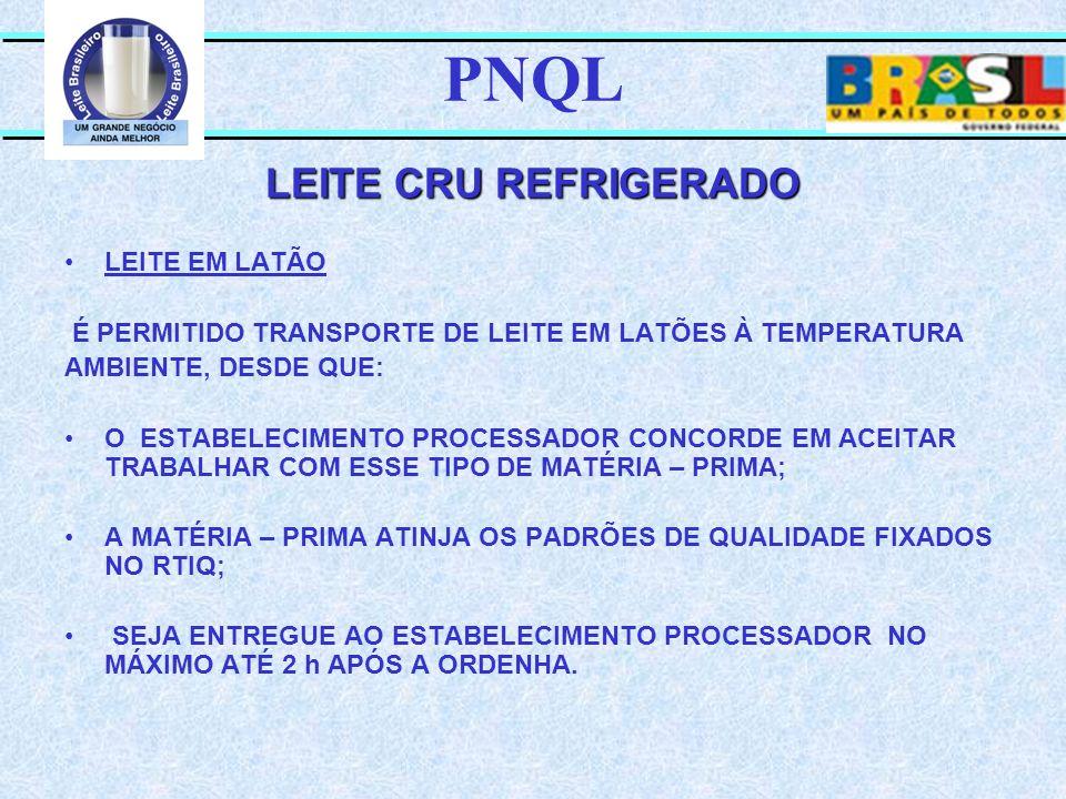 PNQL LEITE CRU REFRIGERADO LEITE EM LATÃO